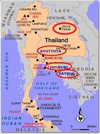 タイ東北部と東部で新たに工業団...